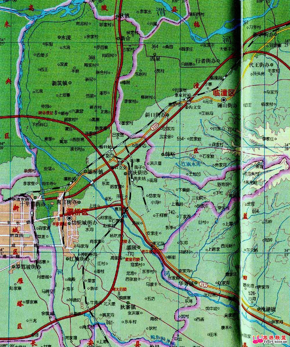 西安市景区地图