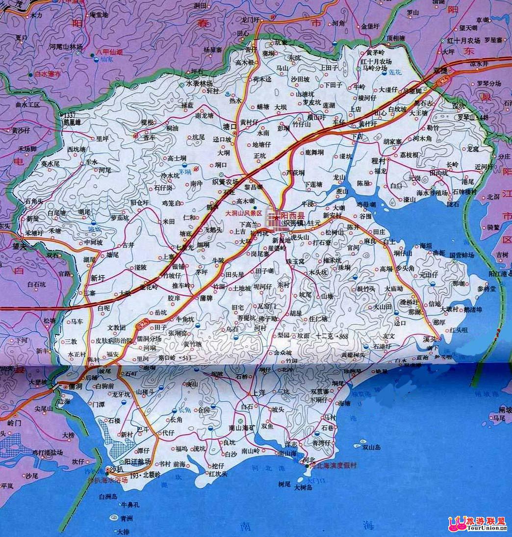 阳江市地图