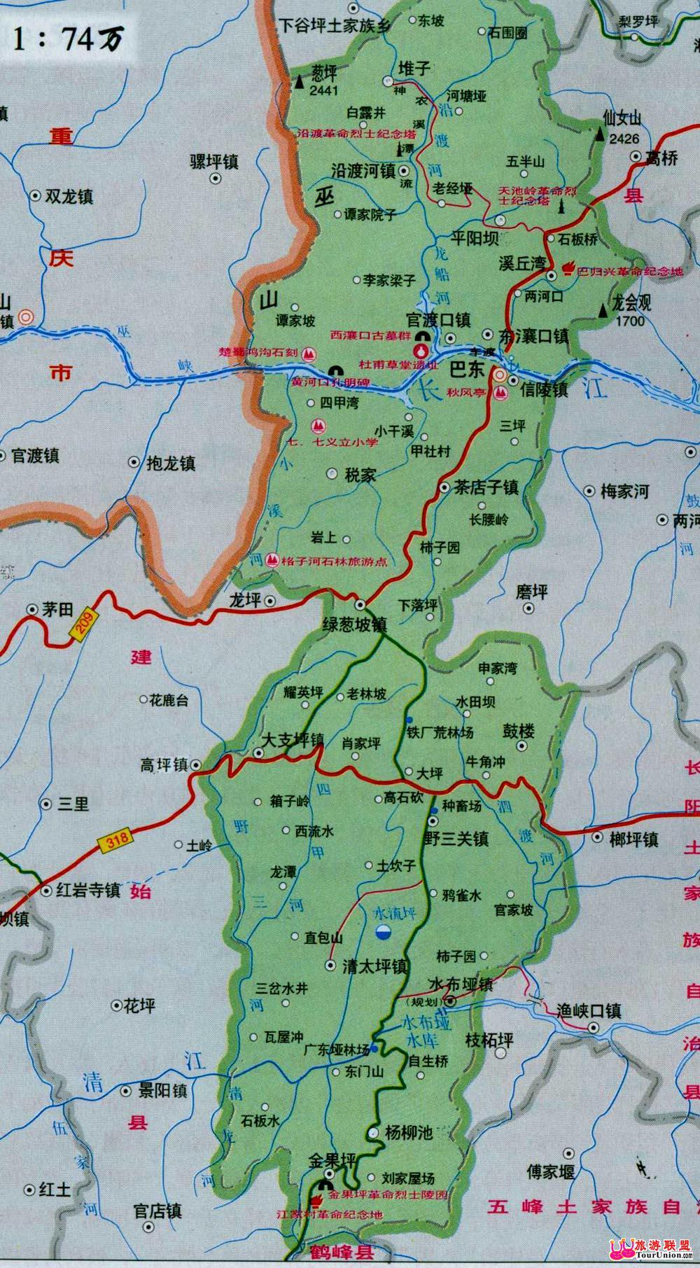 湖北省巴东地图
