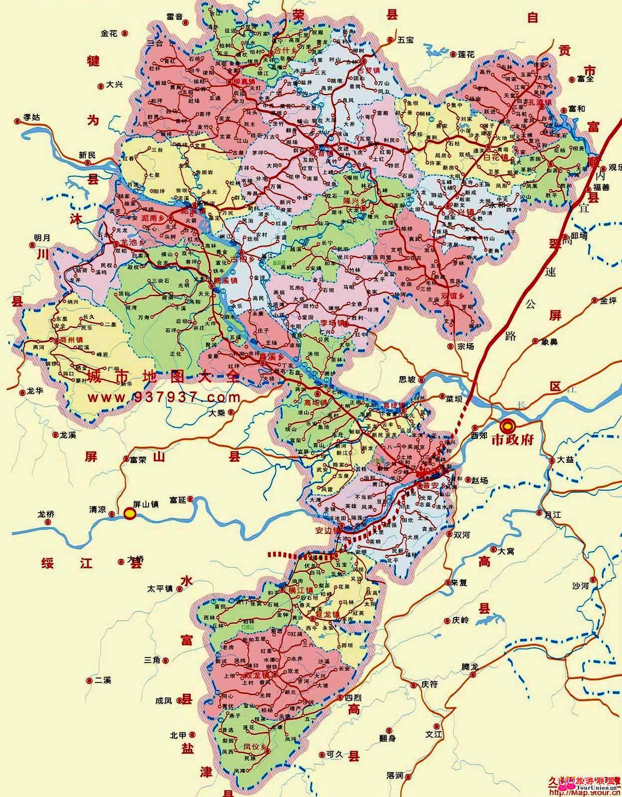 四川宜宾地图