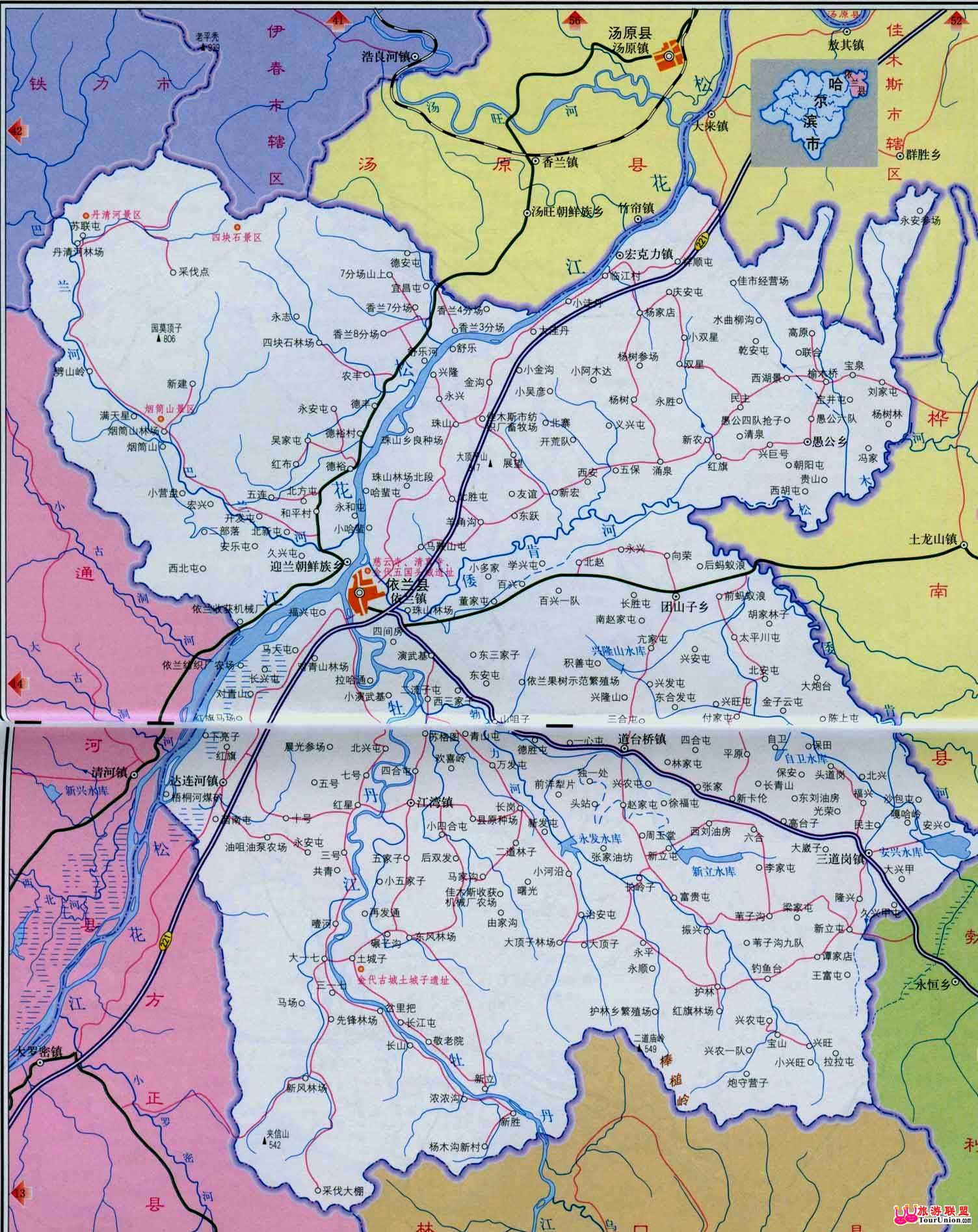 天气预报及气候介绍; 依兰 旅游地图, 依兰 旅游图片,50877.