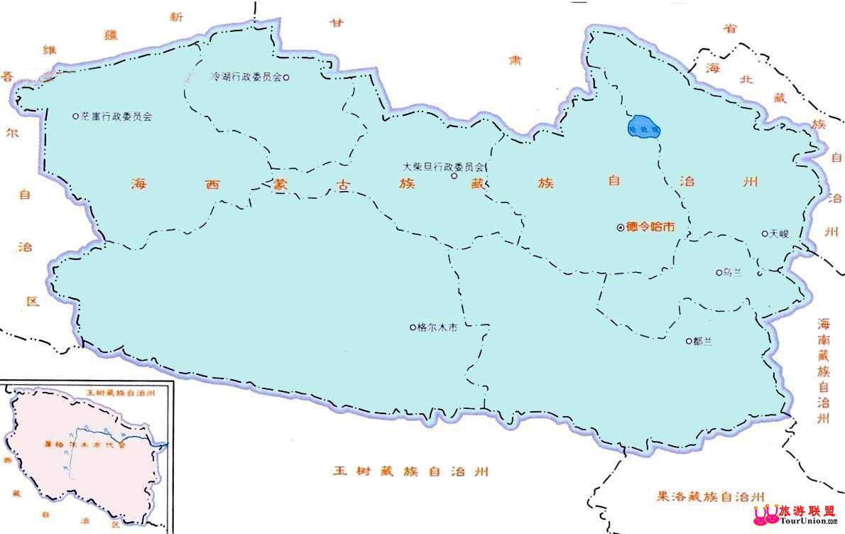 中国 青海 景点 >资料  图行本地:··格尔木电子地图&nb