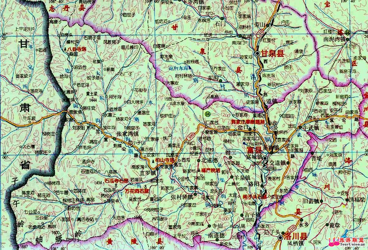 富县电子地图&图片