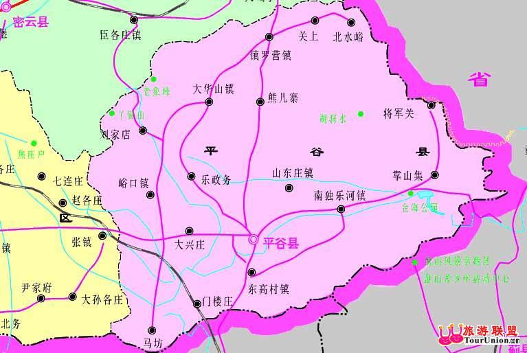 北京平谷旅游地图_平谷旅游地图_北京北京地图