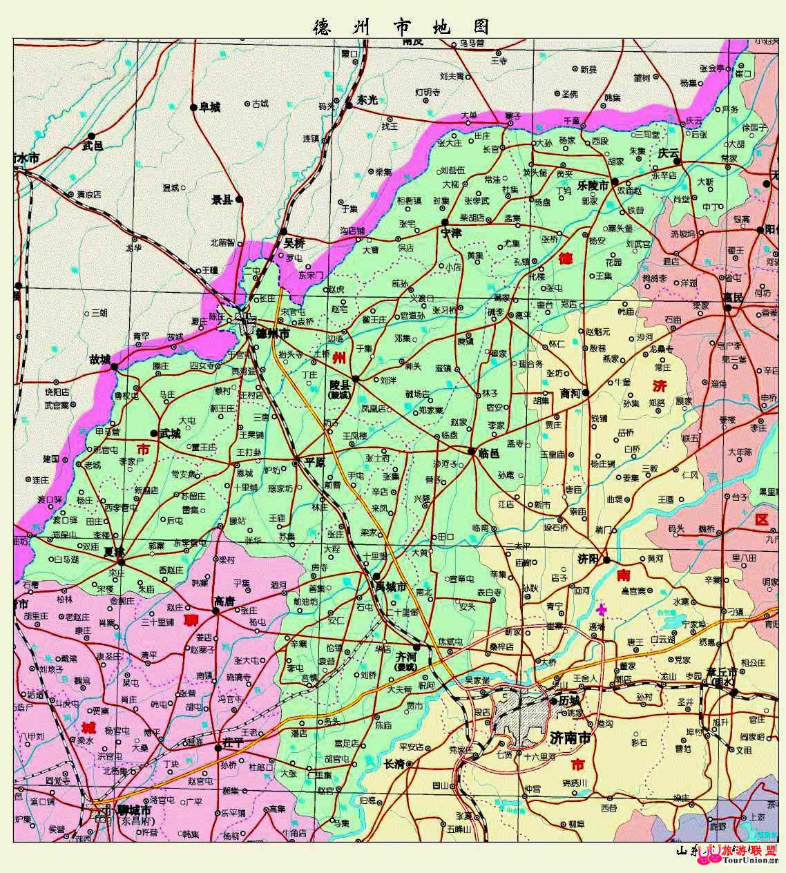山东德州平原县地图