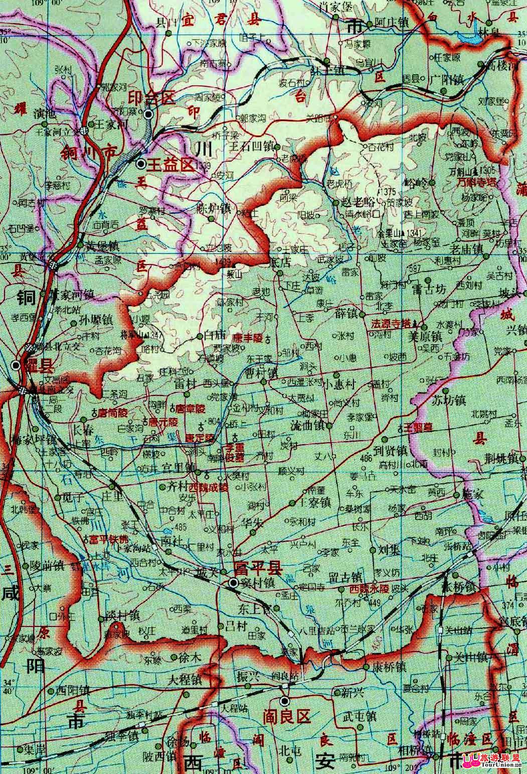 富平县地图,富平县卫星地图,陕西富平县地图图片