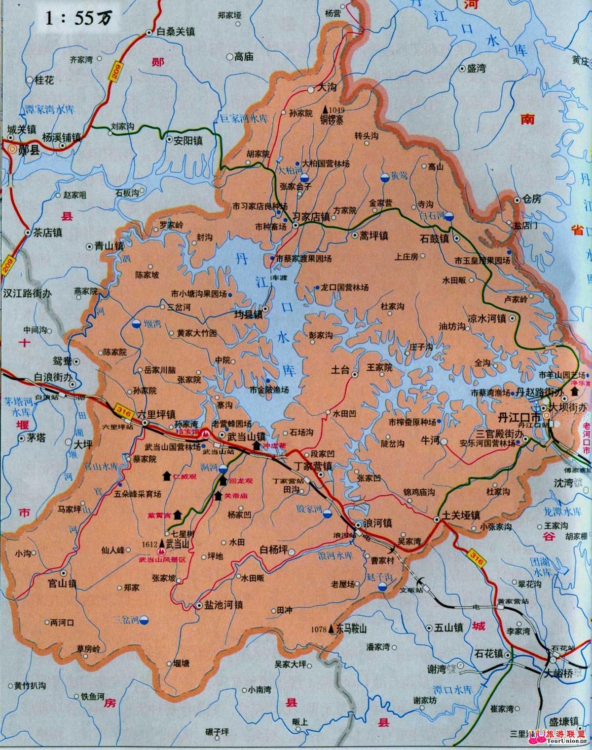 湖北省丹江口市行政区地图