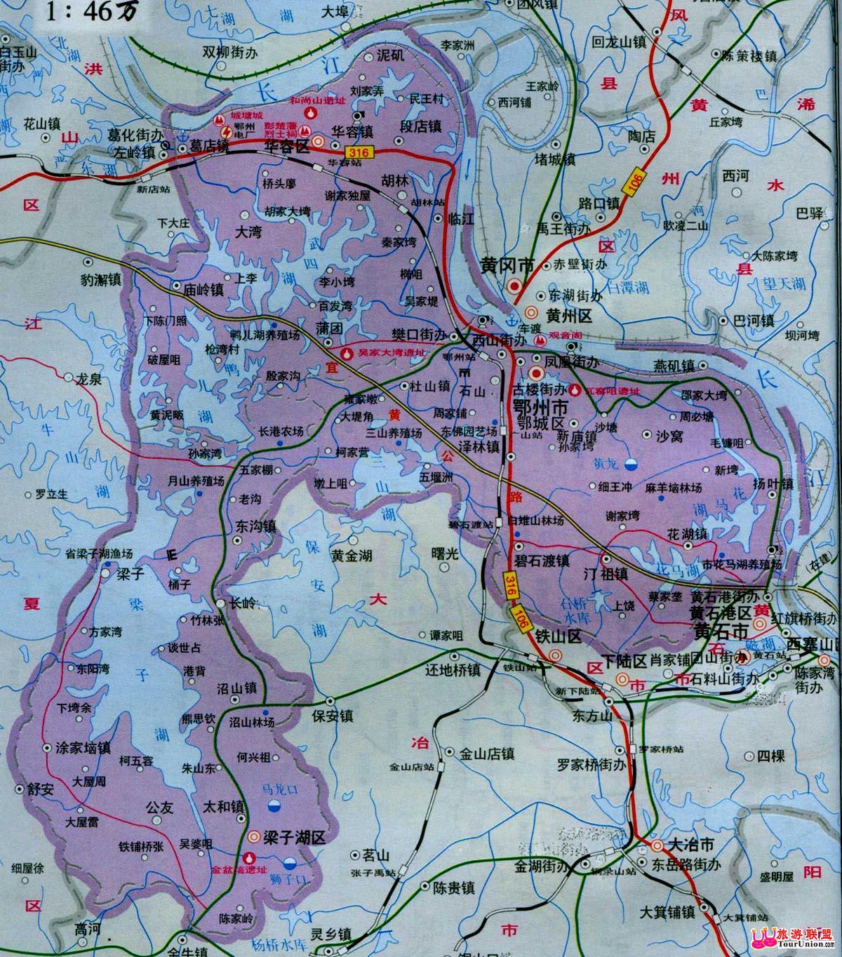 湖北省鄂州地图_鄂州地图_湖北地图_高清版_下载政区地图