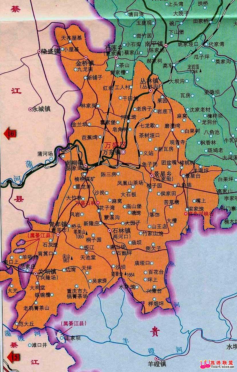 万盛石林交通-旅游联盟重庆万盛旅游资讯中心