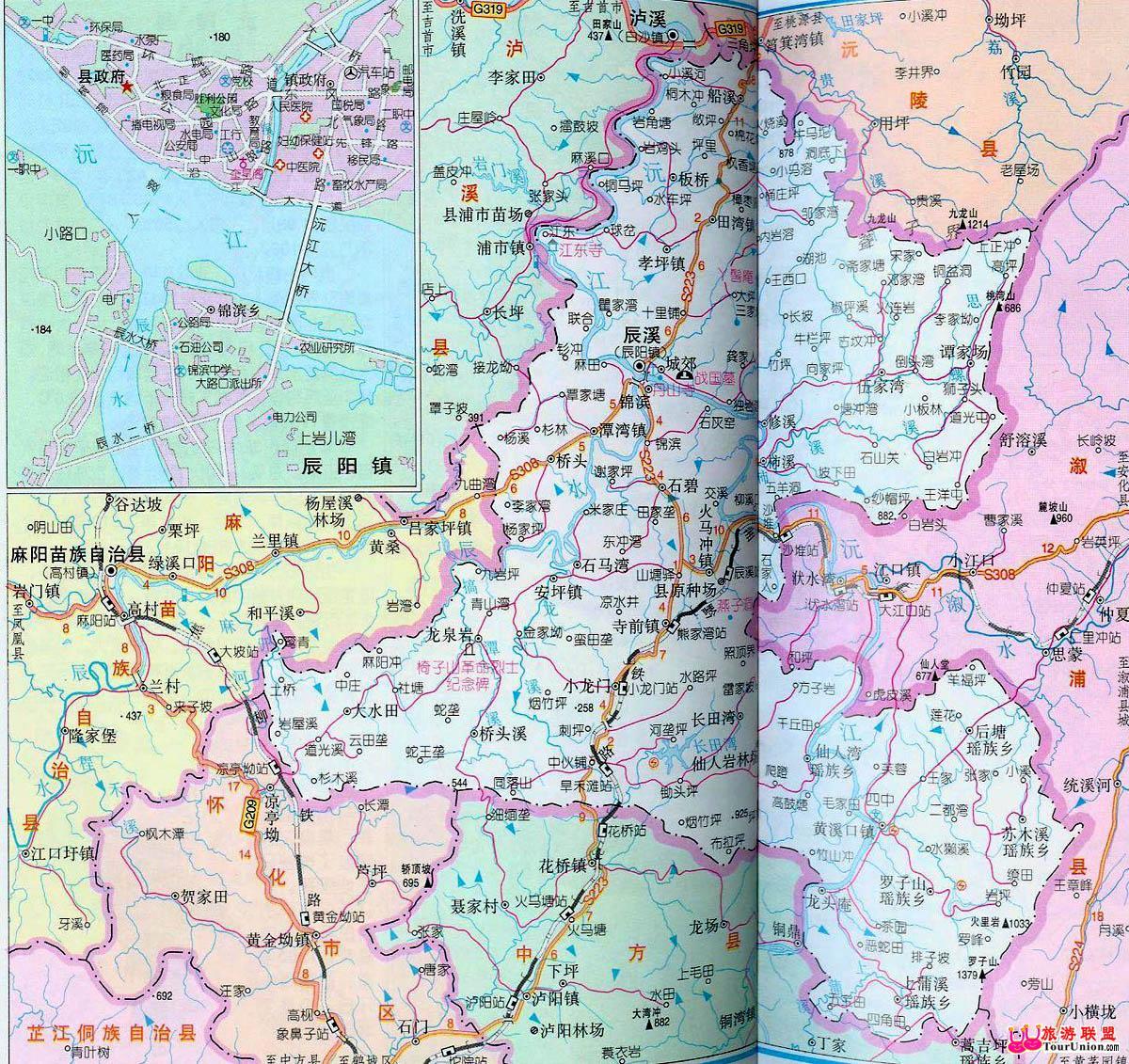 怀化交通图怀化城市电子地图