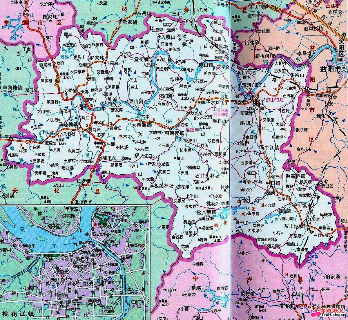 竹海风景区地图