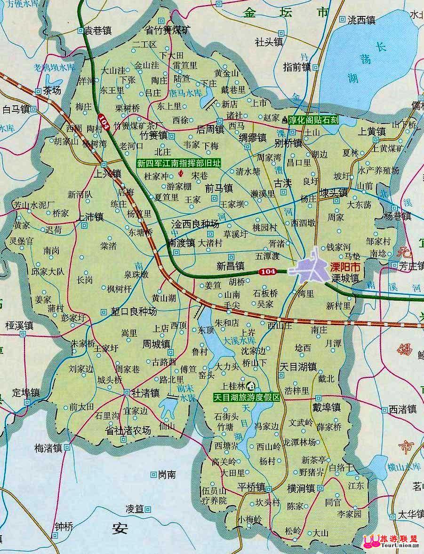 溧阳市交通地图; 江苏高速地图交通图图片大全