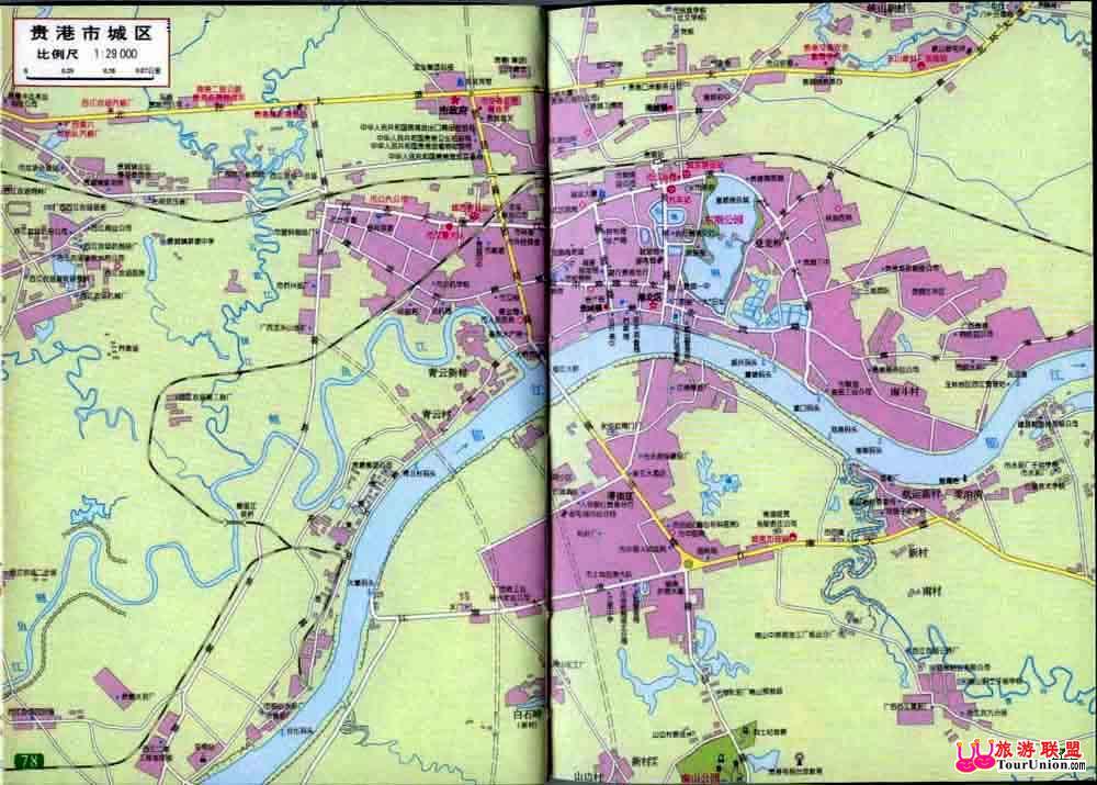 广西贵港市地图