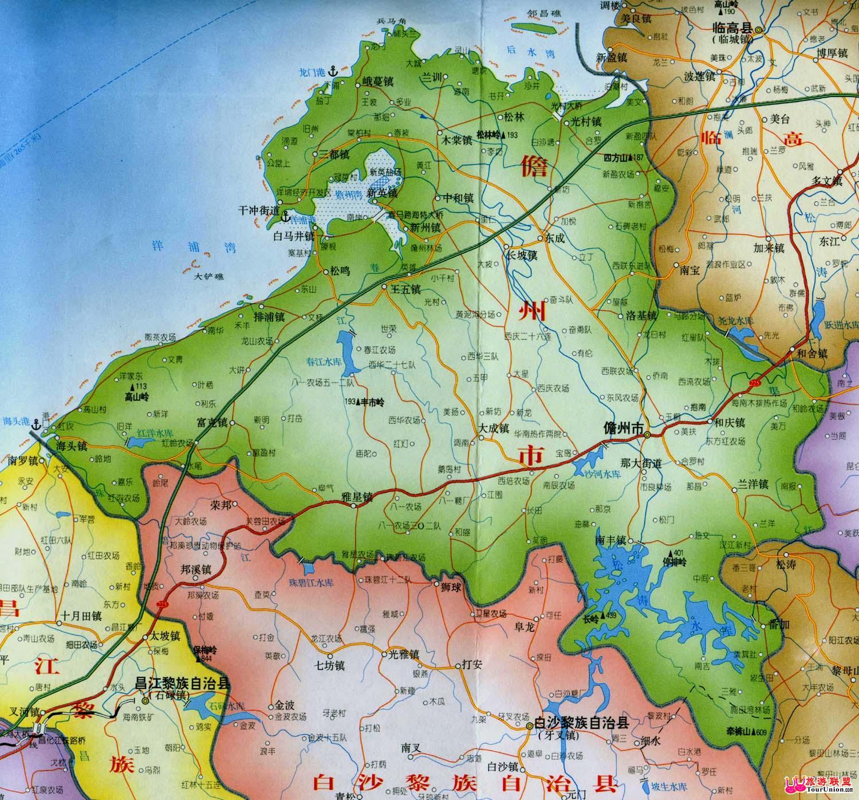 儋州那大镇城区电子地图