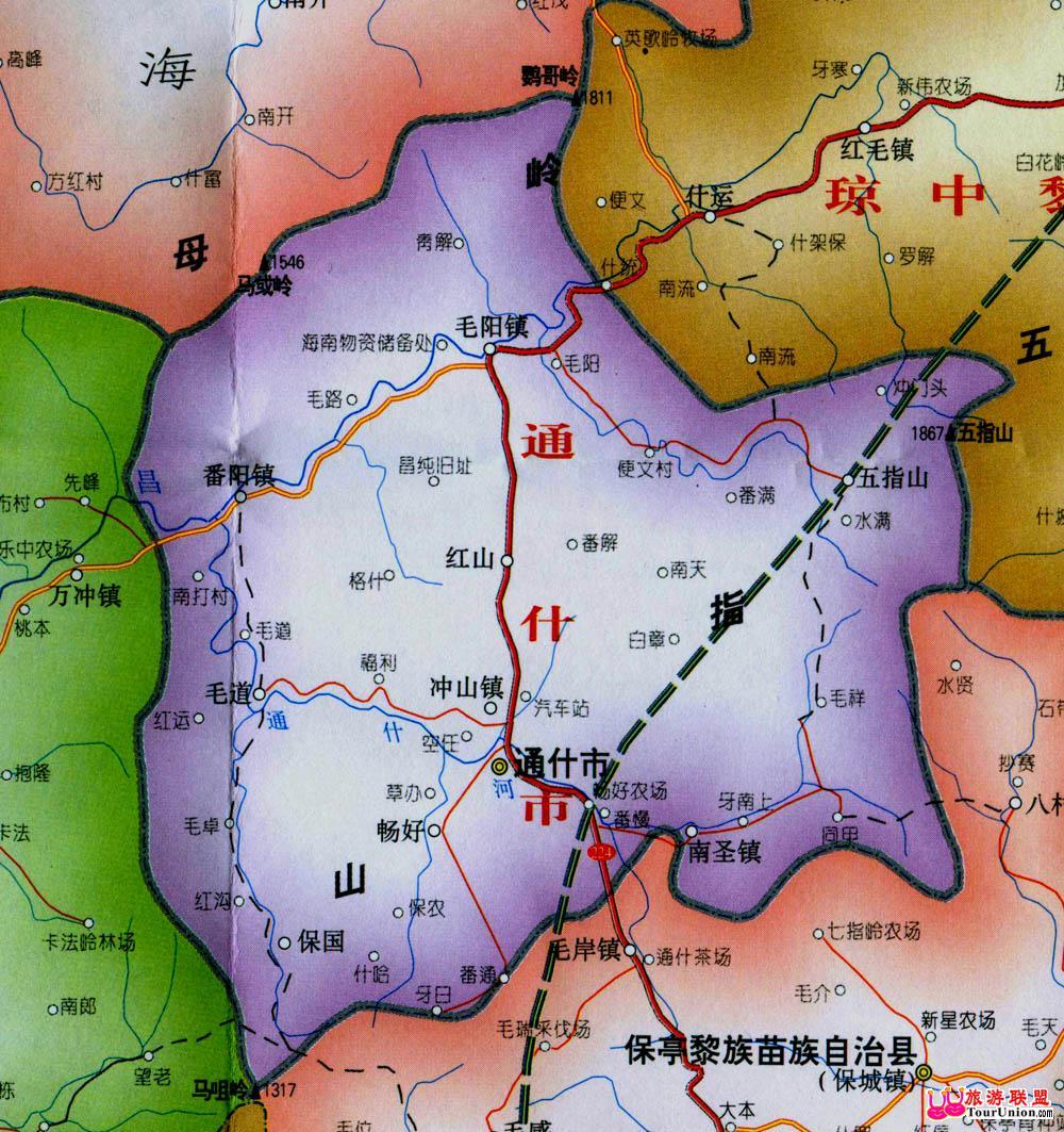 图行本地:··五指山电子地图·图行海南·五指山