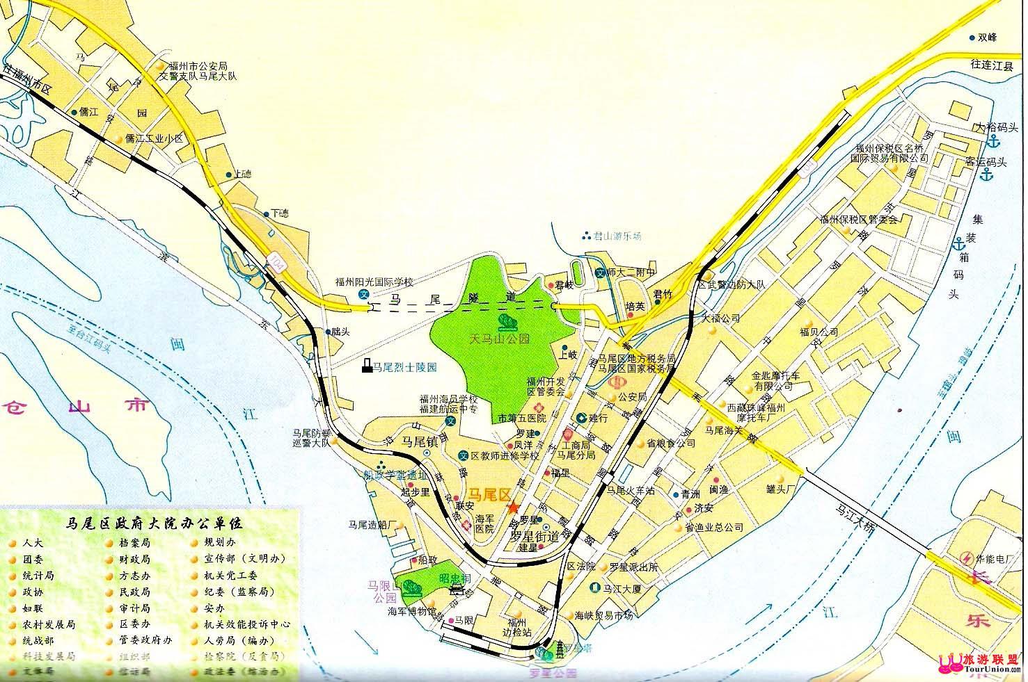 八达岭野生动物园游园地图