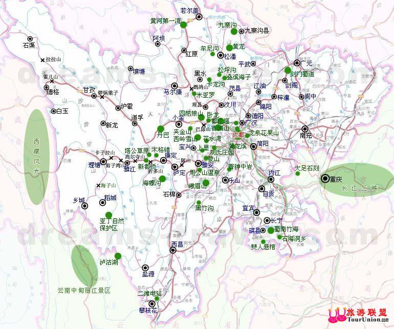 四川旅游地图 交通网