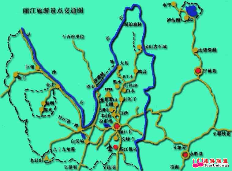 丽江旅游地图