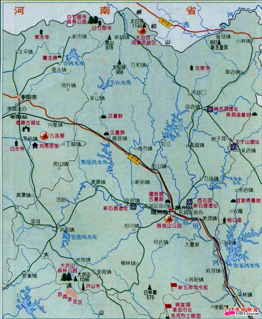 随州市城区地图