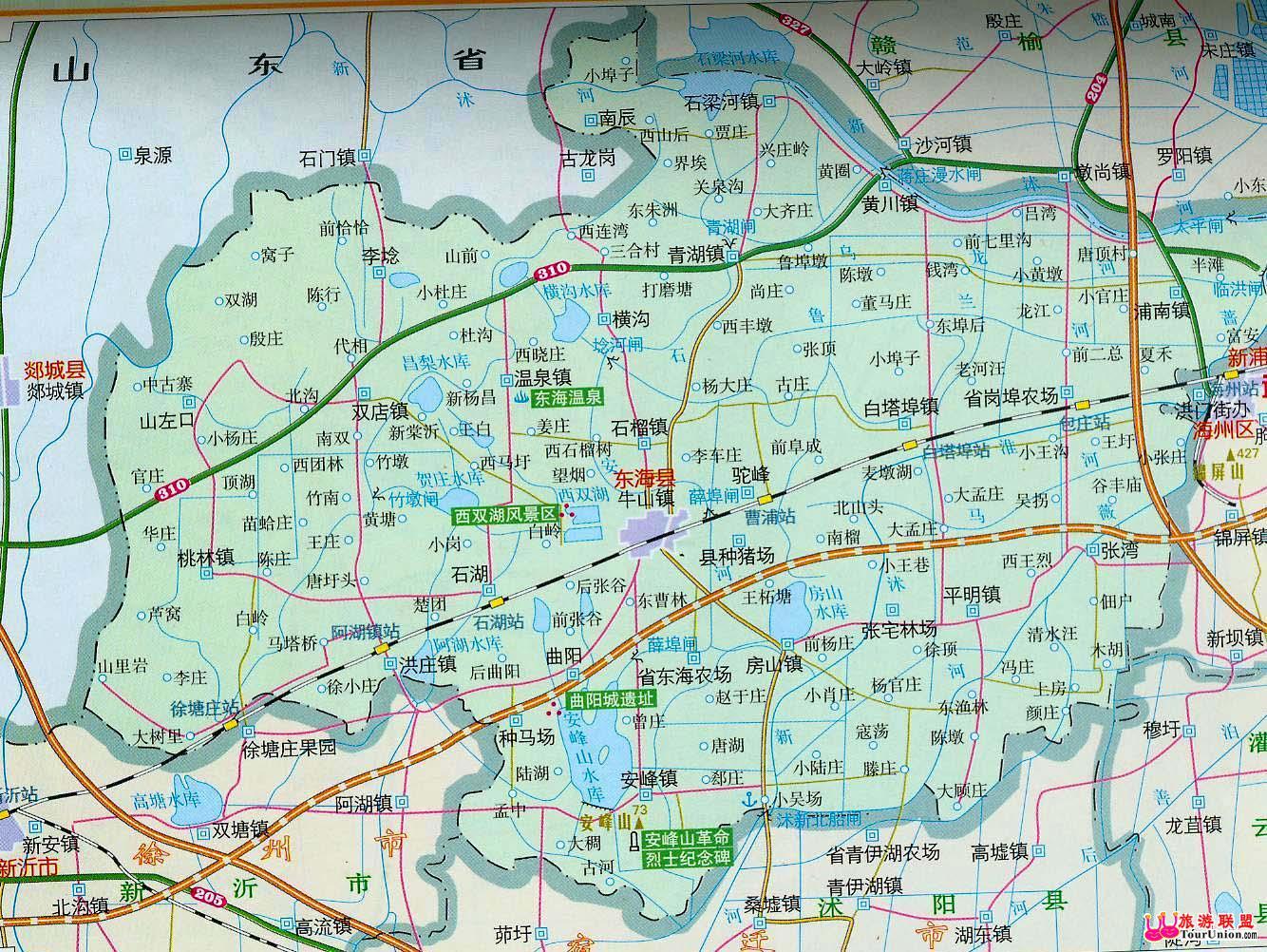 连云港市区地图