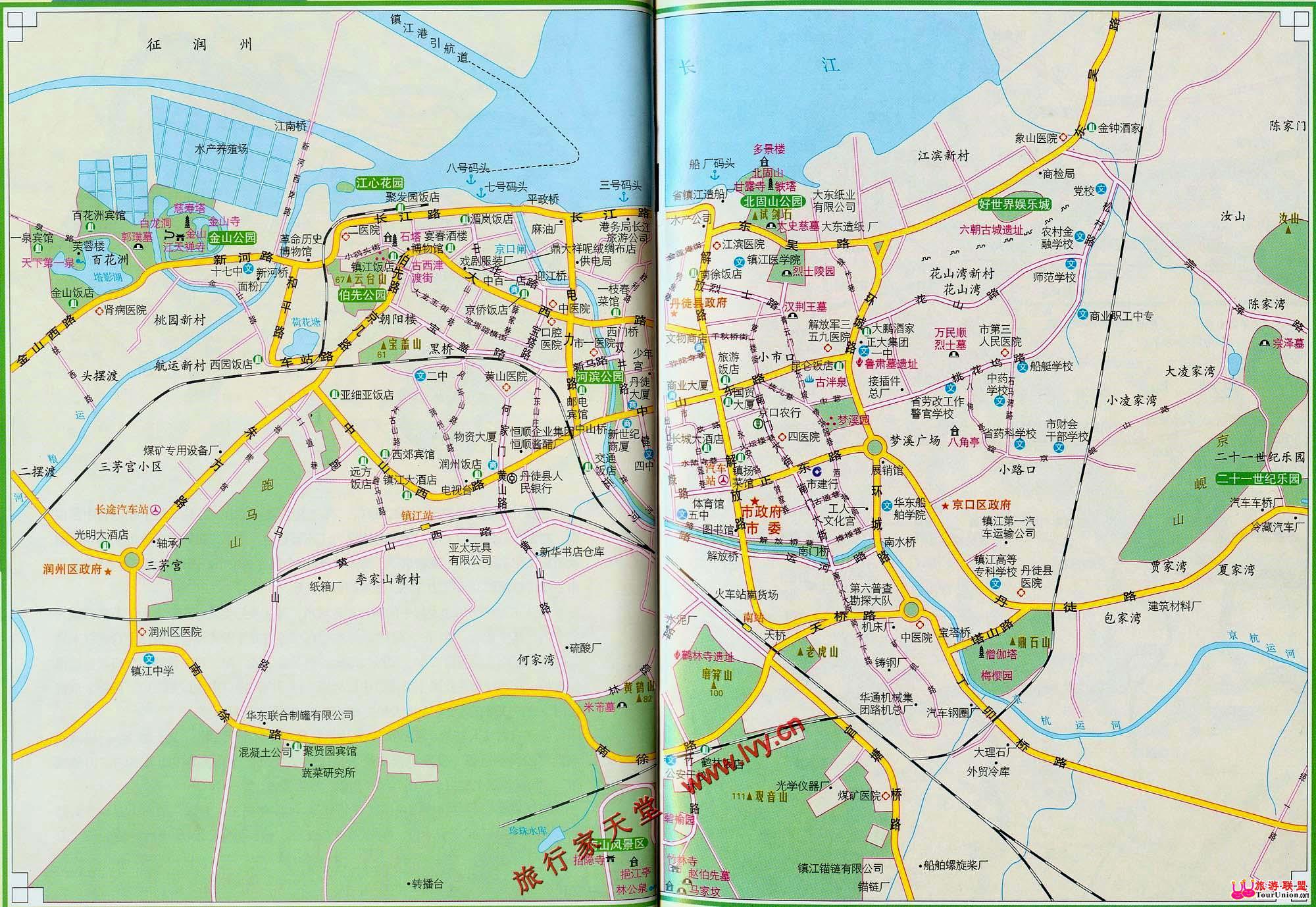 图行本地:··镇江电子地图·图